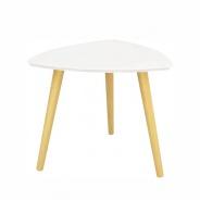 Příruční stolek, bílá/přírodní dřevo, TAVAS