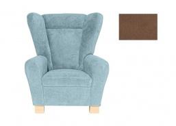 Komfortní relaxační křeslo typu ušák Ingrid - hnědá 2742