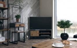 Set obývací pokoj Trevor - dub wotan/šedá
