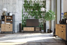 Obývací komplet Trevor - dub wotan/šedá