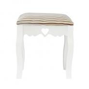 Elegantní taburetka, bílá / béžová pásek, WAGNER 1
