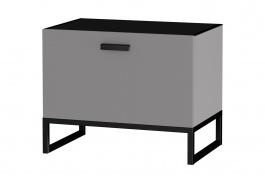 Zásuvkový odkládací stolek Osvald - šedá