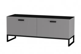 TV stolek Osvald - šedá/černá