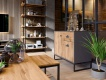 Obývací set Trevor - dub wotan/šedá