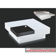 Konferenční stolek Eliot - bílá/černá