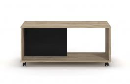 Konferenční stolek Mabel - dub šedý/černá