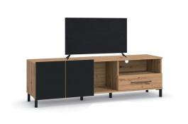 TV stolek Nibiru 160cm - dub artisan/černá