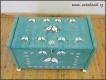 Dřevěná truhla na hračky Ptáčci