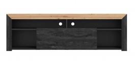 TV stolek Cassie - dub artisan/černá
