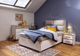 Studentská ložnice Dylan - bílá/dub světlý