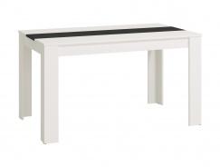 Jídelní stůl George - bílá/černá