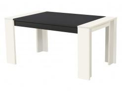 Jídelní stůl Robert 155x90cm - bílý/černá