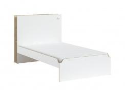 Studentská velká postel 120x200cm Dylan - bílá/dub světlý