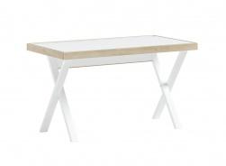 Studentský stůl Dylan - bílá/dub světlý