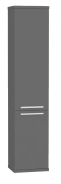 Vysoká koupelnová skříňka REA REST 5 - graphite