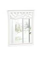 Zrcadlo s dekorem Ofélie - bílá