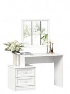Toaletní stolek se zrcadlem Ofélie - bílá