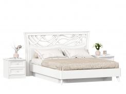 Postel s úložným prostorem a nočními stolky 160x200cm Ofélie - bílá