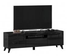 TV stolek s nohami 150cm Drax - černý lesk