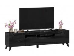 TV stolek s nohami 180cm Drax - černý lesk