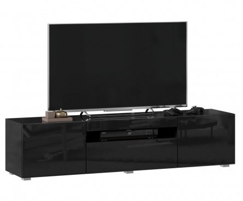 TV stolek 160cm Drax - černý lesk