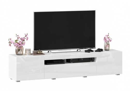 TV stolek 180cm Drax - bílý lesk