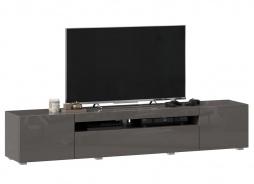 TV stolek 200cm Drax - šedý lesk