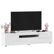 TV stolek 160cm Drax - bílý lesk