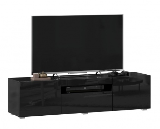 TV stolek 150cm Drax - černý lesk