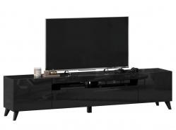 TV stolek s nohama 200cm Drax - černý lesk