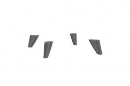 Podpěrné nohy k TV stolku Drax - šedá