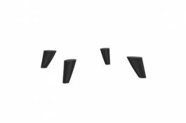 Podpěrné nohy k TV stolku Drax - černá