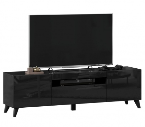 TV stolek s nohami 160cm Drax - černý lesk