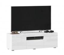 TV stolek 120cm Drax - bílý lesk