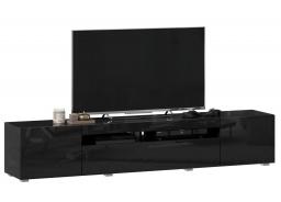 TV stolek 200cm Drax - černý lesk
