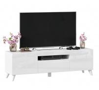 TV stolek s nohami 150cm Drax - bílý lesk