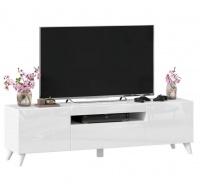 TV stolek s nohami 160cm Drax - bílý lesk