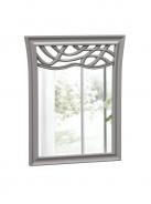 Zrcadlo s dekorem Ofélie - šedá
