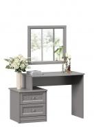 Toaletní stolek se zrcadlem Ofélie - šedá