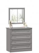 Zásuvková komoda se zrcadlem Ofélie - šedá
