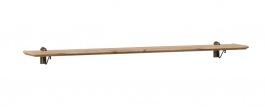 Závěsná police 120cm Annie - šedá/dub tortuga