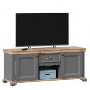 Televizní stolek Annie II - šedá/dub tortuga