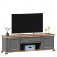 Televizní stolek Annie I - šedá/dub tortuga