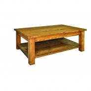 Konferenční stolek masiv MES 14 - K17 bílý vosk