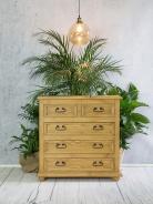 Dřevěná komoda se šuplíky COM 05 - K01 světlá borovice