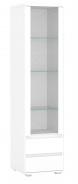 Vysoká vitrína REA Amy 21 - bílá