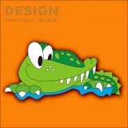 Dekorace na zeď Krokodýl 55x30cm