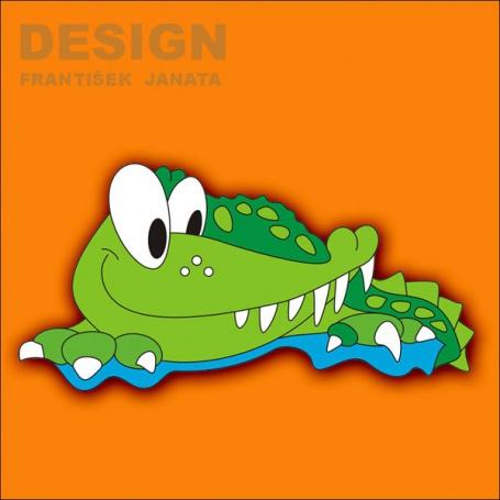 Dekorace na zeď Krokodýl