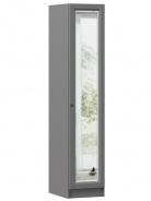 Jednodveřová skříň se zrcadlem Annie - šedá
