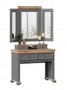 Toaletní stolek se zrcadlem Annie - šedá/dub tortuga